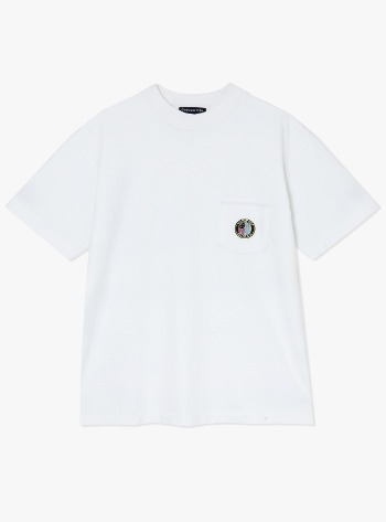 FACTORY POCKET S/S TEE-WHITE