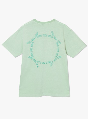 CIRCULTION EMBROIDERED S/S TEE-MINT